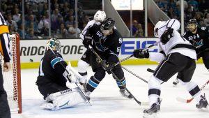 Antti Niemi och San Jose Sharks föll i Stanley Cup-slutspelet.