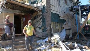 förstörst hus i horlivka