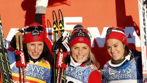 Marit Björgen, Therese Johaug och Heidi Weng