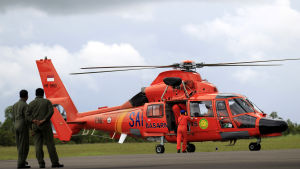 Många helikoptrar deltar i sökoperationen.