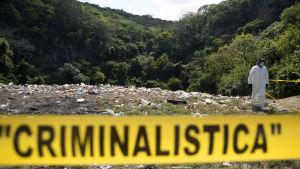 Avstjälpningsplatsen där de försvunna studenternas kroppar tros ha dumpats