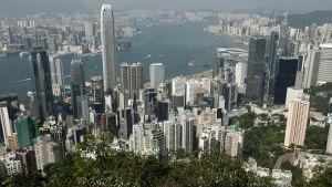 Vy över Hongkong i december 2011