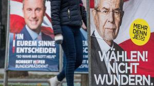 Valaffischer i presidentvalet i Österrike 2016.