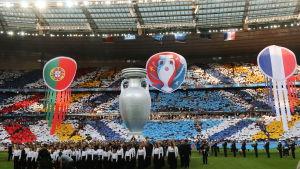 Festligheter inför finalen av fotbolls-EM 2016.
