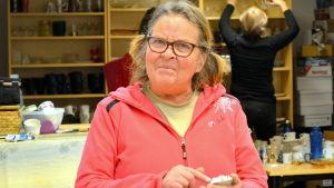 Astrid Nikula är eldsjälen bakom Kulturkiosken.