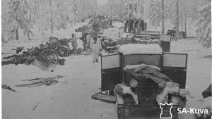 Destruktionen vid Raatevägen under vinterkriget