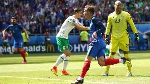 Antoine Griezmann gjorde mål för Frankrike.