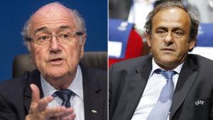 Sepp Blatter och Michel Platini