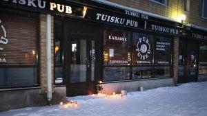 Puben i Uleåborg utanför vilken två dråp begicks den 14 januari 2015
