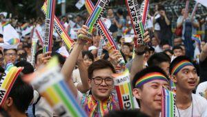 Homosexuella ska få gifta sig i Taiwan