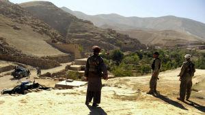 Vy från regionen Badakhshan i Afghanistan.
