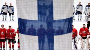 Finland mot Kanada igen - vems nationalsång spelas i slutet?