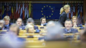 Euroopan parlamentin kokous.