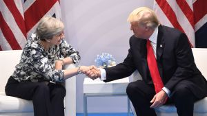 Theresa May och Donald Trump
