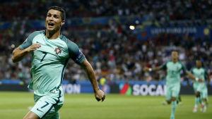 Cristiano Ronaldo löper.