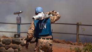FN:s fredsbevarare i gränsområde mellan Israel och Syrien