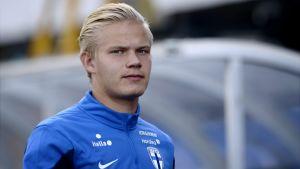 Joel Pohjanpalo inför EM-kvalmatchen mot Färöarna.