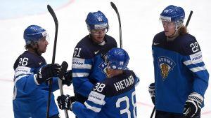 Jussi Jokinen, Aleksander Barkov, Juuso Hietanen och Patrik Laine kan alla representera Finland i World Cup.