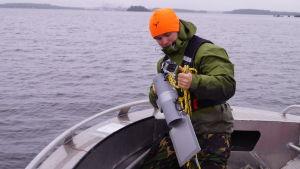 Undervattenskamera för att kartlägga havsbottnen.