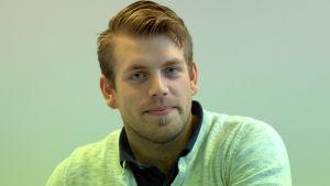 Jonas Östberg från Molpe studerar på Novia i Vasa.