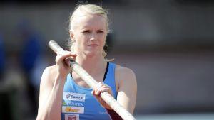 Minna Nikkanen förbättrade sitt eget finländska rekord med en centimeter.