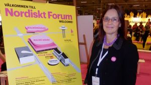 Peggy Heikkinen vid Nordiskt Forum i Malmö