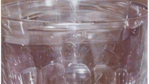 Ett dricksglas fyllt med vatten