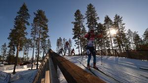 Längdskidåkarna kommer att inta skidskytte-Meckat Kontiolahti i månadsskiftet.