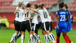 Österrike nådde oavgjort mot Frankrike i EM.