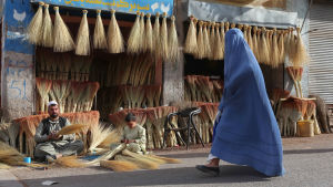 Burkor är numera vanliga i Afghanistan och Pakistan men en sällsynt syn i Marocko