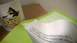 paperi kirjekuoressa
