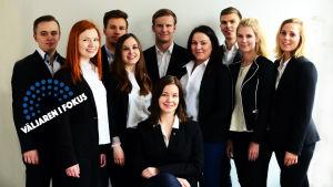 Merkantila Klubbens styrelse, Tette Niinimäki, Catherine Rantanen, Niklas Granholm, Emma Lindroos, Teemu Laine, Sanni Peltonen, Elin Kneck, Anders Solvin, Erika Degerman, Rebecca Barck.