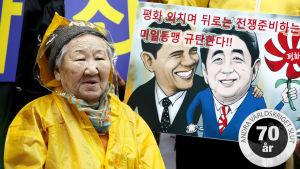 Sydkoreanska Gil Won-Ok tvingades bli sexslav åt japanska soldater under andra världskriget.