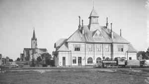 Järnvägsstationen 1907