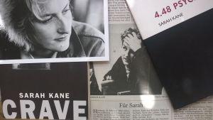 collage av Sarah Kane-material.