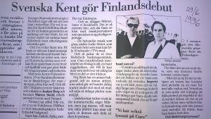Tomas Janssons tidningsintervju med Kent.