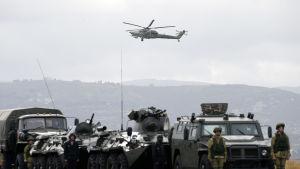 Rysk militärhelikopter i Syrien.