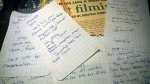 Recensentens anteckningar.