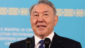 Kazakstans president Nursultan Nazarbajev