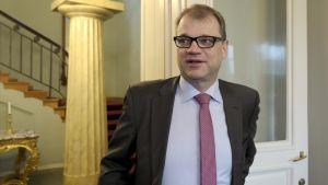 Juha Sipilä i Smolna den 23 maj 2015.