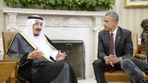 Kung Salman och Barack Obama i Vita Huset i september 2015