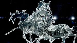 Hevostroikka installaatio Sotshin Olympialaisten avajaisissa 2014