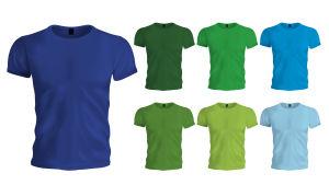 Erivärisiä t-paitoja
