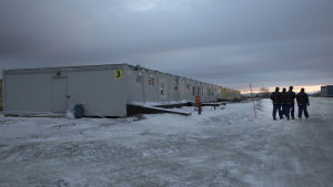 Flyktingförläggning i Norge, nära ryska gränsen.