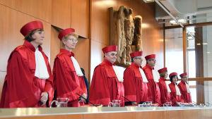 Den tyska författningsdomstolen i Karlsruhe den 12 oktober 2016.