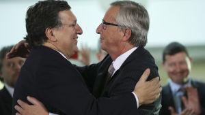 Jose Manuel Barroso lämnar över ledningen i EU-kommissionen till Jean-Claude Juncker