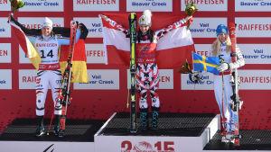 Anna Fenninger vann damarnas storslaom i VM i Beaver Creek.