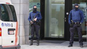 Polisen i Bryssel.