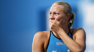 Sarah Sjöstörm vid VM i fjol