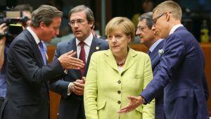 EU-ledare samlade för toppmöte i Bryssel.